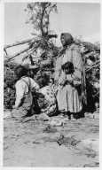 Portrait of a Ute Mountain Ute woman with children