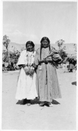 Portrait of Ute Mountain Ute school girls