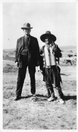 Portrait of a Ute Mountain Ute man and an Anglo man