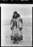 Eskimo girl in Wainwright, Alaska