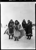 Eskimo women in Wainwright, Alaska