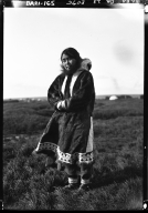 Eskimo woman in Wainwright, Alaska