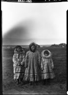 Eskimo woman and her children