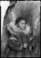 Portrait of Eskimo girl