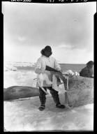 Eskimo men after a hunt