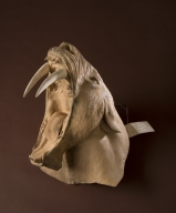 Mold of Saber-tooth cat head