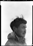 Portrait image of an Eskimo man