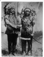 John P. Kuhns and Chief Soloftoche, Snake Priest, Hopi