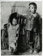 Kiowa baby in cradleboard