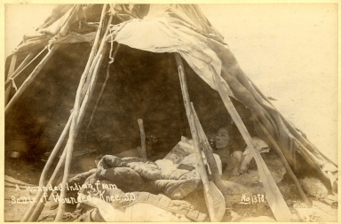 A Wounded Indian from Battle of Wounded Knee