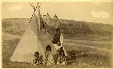 Sioux Woman in Mourning