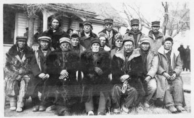 Group of Brule men