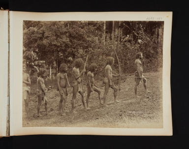 Group of Veddahs, native people, in Sri Lanka.