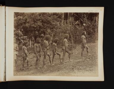 Group of Veddahs, native people, in Sri Lanka.