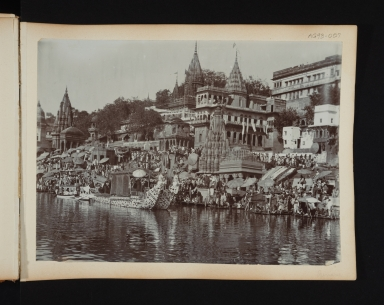 Ganges River Scene.