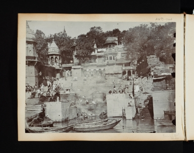Burning Ghat in Benares (Varanasi), India.