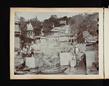 Burning Ghat in Benares (Varanasi), India.