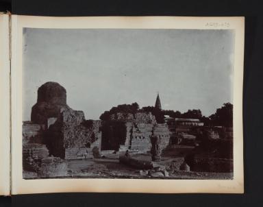 Temple ruins at Benares, India.