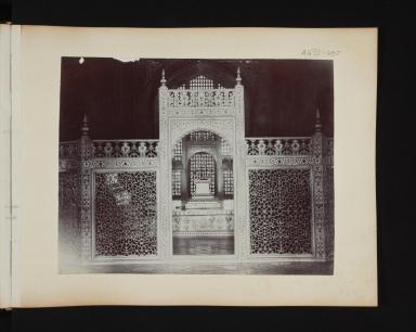 Interior of the Taj Mahal in Agra, India.