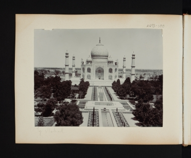 A view of the Taj Mahal in Agra, India.