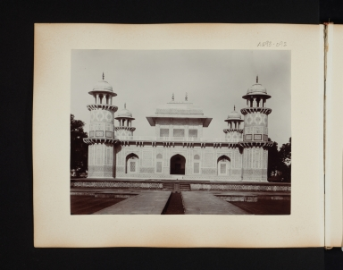 Building with four towers in Agra, India.