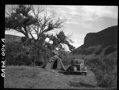 Alfred M. Bailey fieldwork in Arches National Park