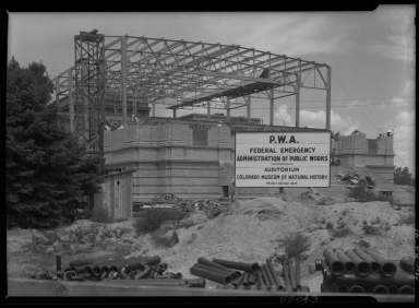 Phipps Auditorium construction