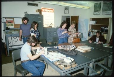Manatee diorama fieldwork