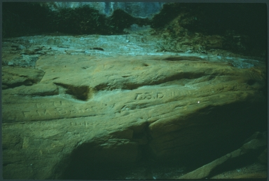 Inscriptions on rocks in Glen Canyon