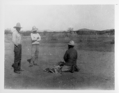 Three Unidentified Tohono O'odham Men