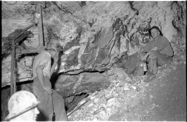 Miners in the Central Deborah Gold Mine