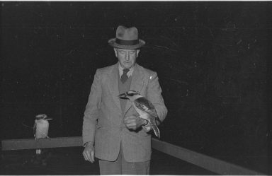 Colonel Hal Scott with kookaburras