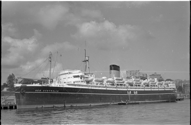 SS New Australia docked in Sydney