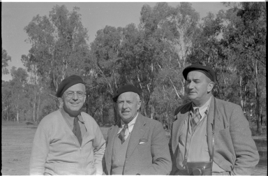 Alfred M. Bailey with Charles Brazenor and R.T.M. Pescott