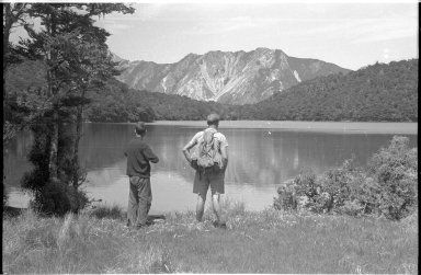 Dick Morris and unidentified field team member Lake Lupine