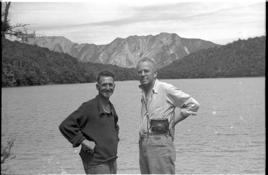 Alfred M. Bailey and Dick Morris at Lake Lupine