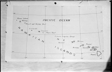 Hand drawn Hawaiian Islands map