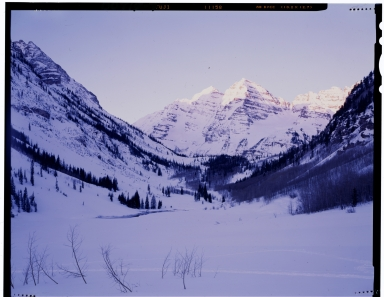 Sunrise at Maroon Bells