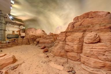 Mars Outpost at Candor Chasma diorama