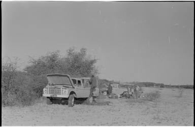 Camp site in Botswana