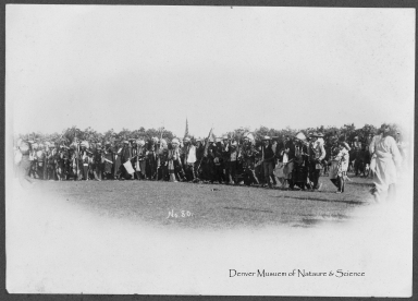 Sioux Indians dancing
