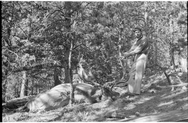 Robert J. Niedrach with an elk