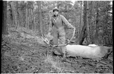 Robert J. Niedrach with an elk