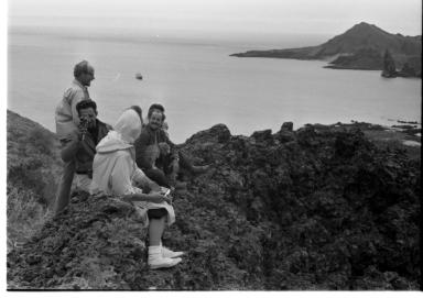 Fieldwork on Galapagos Islands.