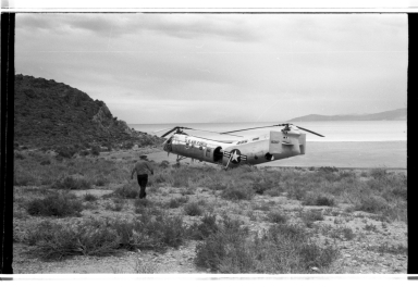 Helicopter on Gunnison Island, Utah
