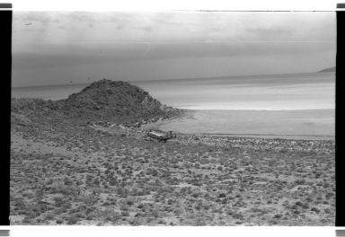 Helicopter on Gunnison Island, Utah