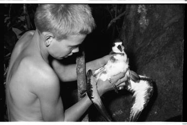 Sigvart Horneman with Galapagos Petrel