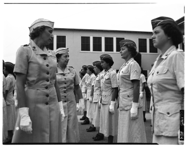 Denver's Woman Marine Reservists at a inspection