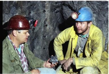 Jack Murphy and miner Bryan Lees