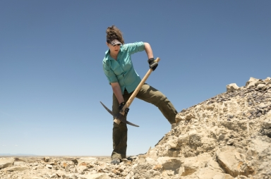 Paleontology fieldwork in New Mexico